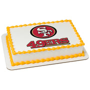 San Francisco 49ers Edible Image Cake Topper