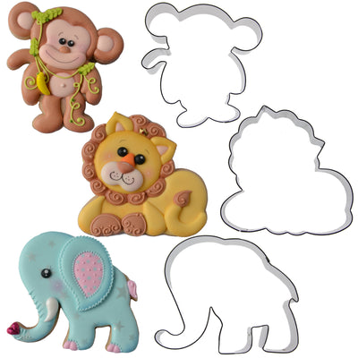 Jungle Critters Cookie Cutter Set