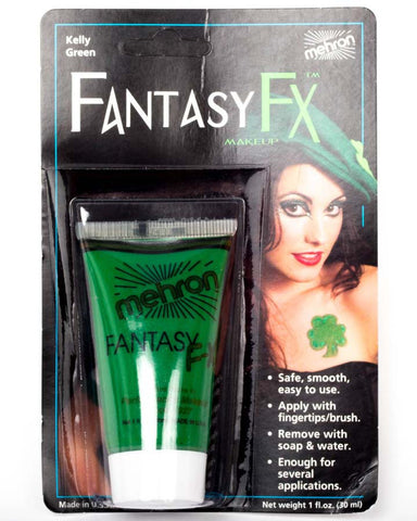 Mehron Fantasy FX Kelly Green Cream Face Paint | 1 OZ