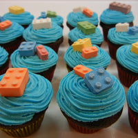 Candy Legos on Cupcakes