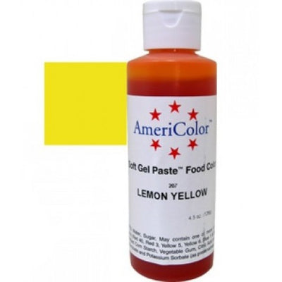 Americolor Lemon Yellow Color Gel Paste 4.5 oz