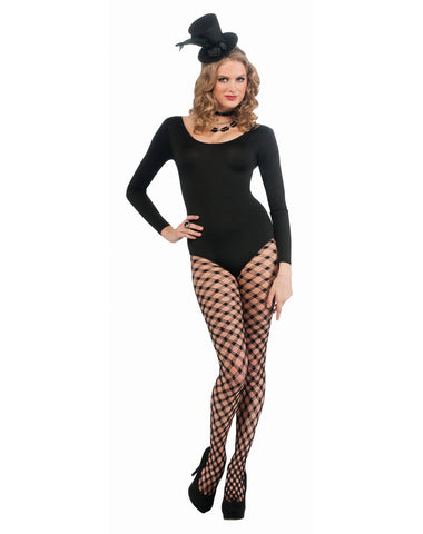 Black Woman's Long Sleeve Leotard