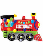 All Aboard Large Train Shape Mylar Balloon