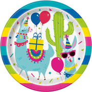 Llama Party Dinner Plates 8 CT