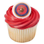 Marine Corps Cupcake Toppers/Party Favors 12 CT