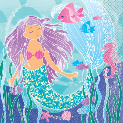 Mermaid Party Luncheon Napkins