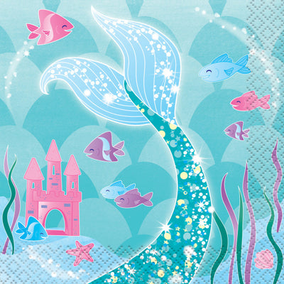 Mermaid Party Beverage Napkins