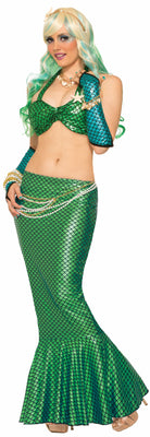 Adult Green Mermaid Fish Fin Skirt