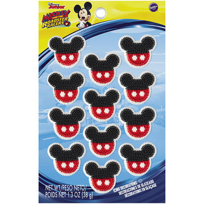 Mickey Mouse Icing Decorations - 12 Count