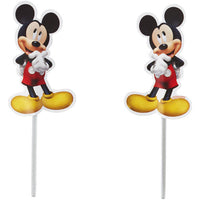 Mickey Mouse Cupcake Picks - 24 Count