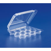 Mini Muffin Clear Plastic Container 12 Compartments