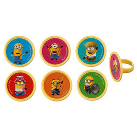 Despicable Me Cupcake/Favor Rings 12 Pack