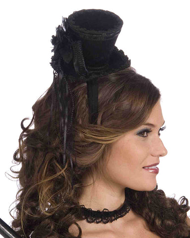 Black Mini Top Hat Accessory