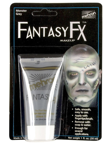 Mehron Fantasy FX Cream Monster Grey Face Paint 1 oz