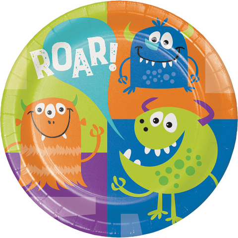 Fun Monster Plates/8 Count
