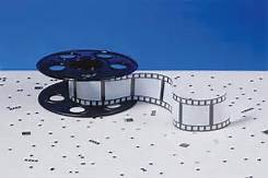 Hollywood Movie Reel Centerpiece - Filmstrip Decoration