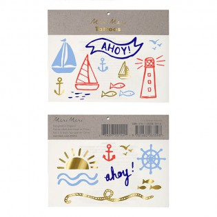 Nautical Themed Tattoos/ Temporary Tattoos - 2 Sets.