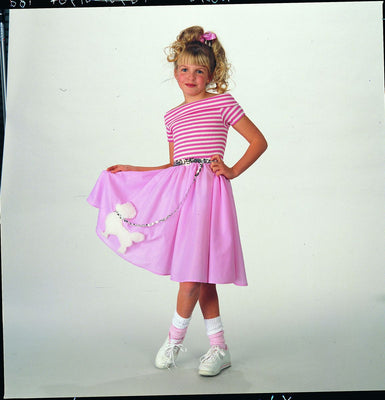 Kid's Nifty Fifties Poodle Dress Costume