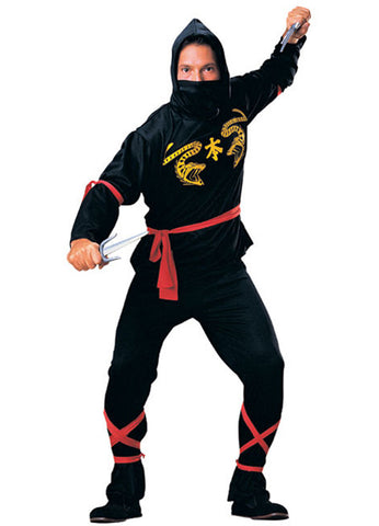 Black Ninja Master Adult Costume