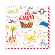 Yo Ho Ho - Pirate Collection/ Luncheon Napkins/20 Count/Triple Ply