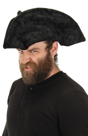 Black Pirate Hat - Adult