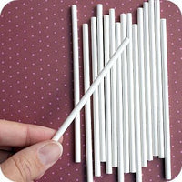 Small Paper Sucker Sticks 50 Count