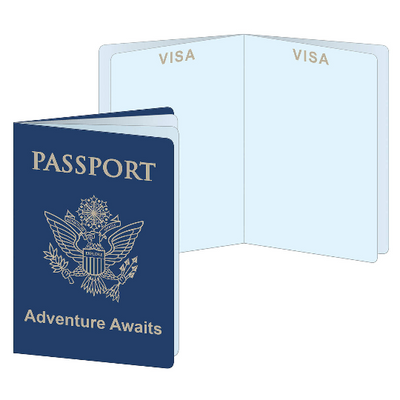 Passport Decorations/ 4 Pieces