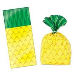 Pineapple Party Bags/ 25 Count/ Favor Bags