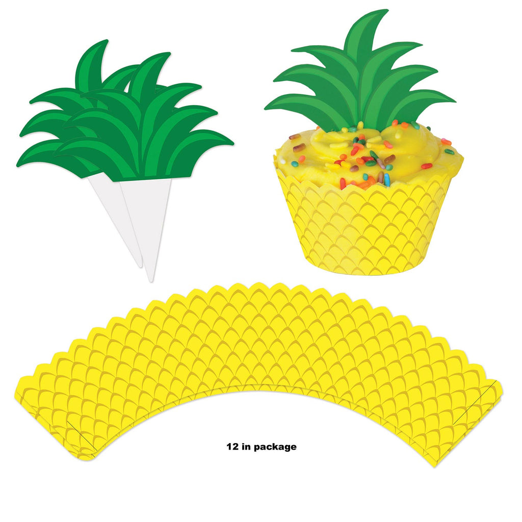 Pineapple Cup Cake Wrappers / 12 Count