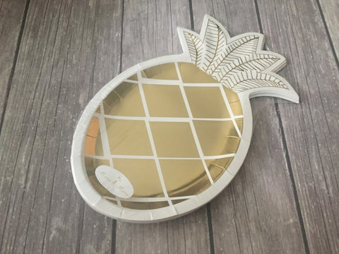 Pineapple Party Plate/ 8 Count/ 9 inch