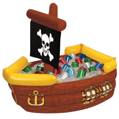 Pirate Ship Inflatable Cooler/39 x 33 inches.