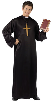 Catholic Adult Priest Costume w/ Collar