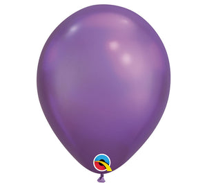 "Chrome 11"" Latex Balloons - Purple/ 10 Count"