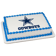 Dallas Cowboys Edible Image Cake Topper