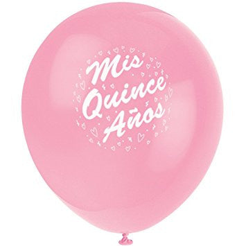 Pink Mis Quince Anos Balloons
