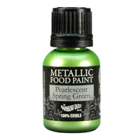 Rainbow Dust - Metallic Food Paint/ Pearlescent Spring Green/25 g