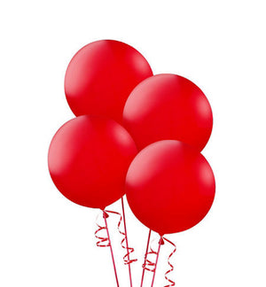 24 Inch Round Red Latex Balloons