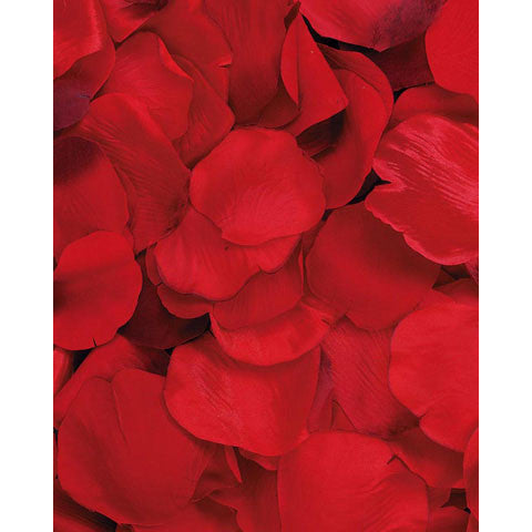 Satin Fake Red Rose Petals 100 PC