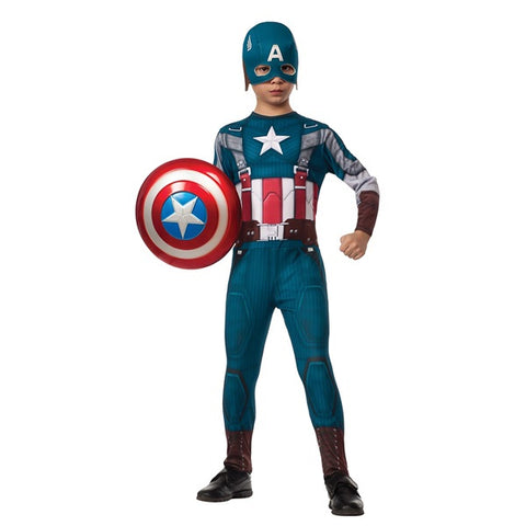 Kid's Retro Captain America Costume
