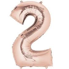 "34"" Rose Gold Balloon - Mylar # 2"