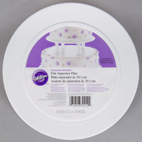 "Separator Plate - Smooth Edge - 8"" Wilton"