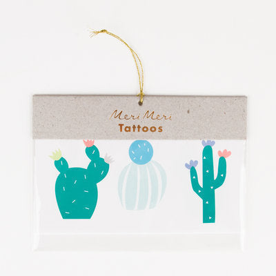Cactus Temporary Tattoos - 6 Per Package