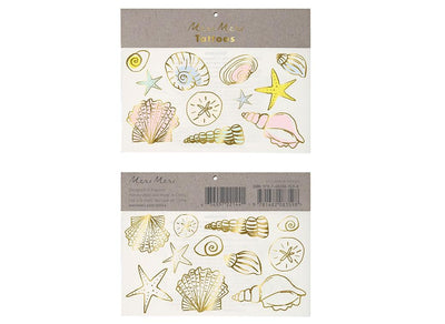 Sea Shell Tattoos/ Temporary Tattoos/ 2 sets