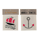 Ship Tattoos/Temporary Tattoo/ 2 Pack.