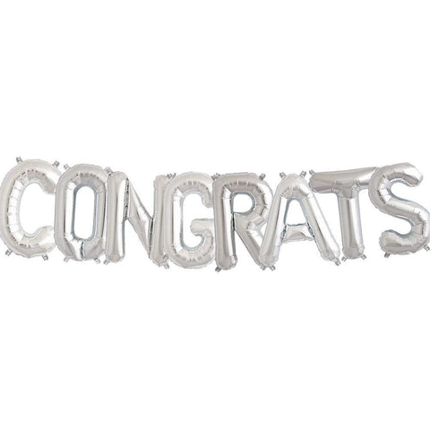 """Congrats"" Balloon Banner Kit -8 Balloons / 9 ft."
