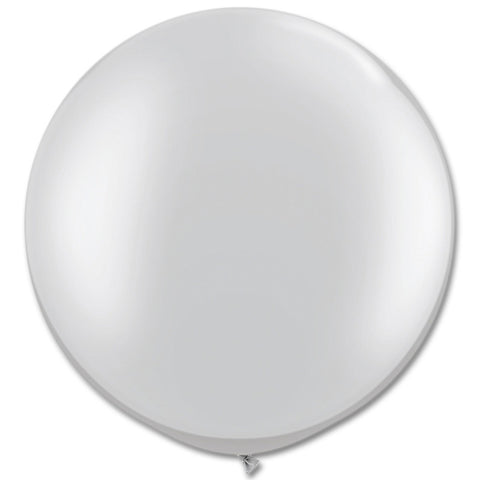 Large Round Silver Balloons