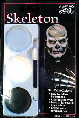 Skeleton Tri-color  Make -up kit - Mehron