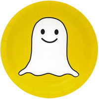 Snappy Ghost Plates/ 8 Count/ 7 inch
