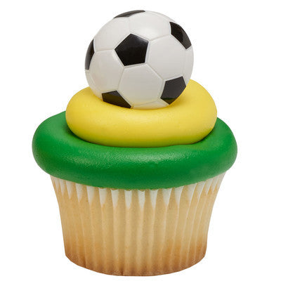 Soccer Ball Cupcake Rings 3-D