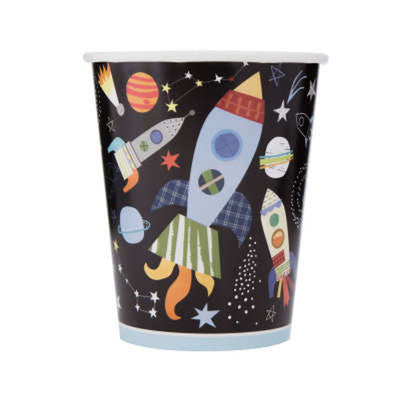 Outer Space Paper Cups 8 Pk